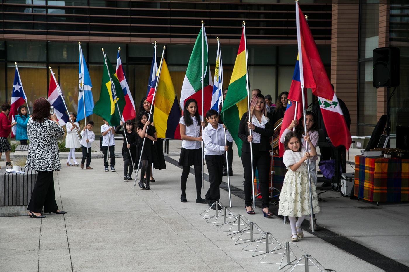 Hispanic Heritage Flag Raising Ceremony